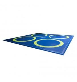 REVERSIBLE WRESTLING TRAINING MAT - 1200 x 1200 x 4 cm