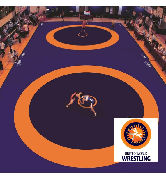 COMPETITION WRESTLING MAT - UWW APPROVED - 1200 x 1200 x 6 cm