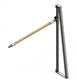 SIDE UPRIGHT FOR FREESTYLE TRAINING BARS WITH WOODEN HAND-RAIL ø 40 mm