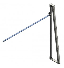 SIDE UPRIGHT FOR FREESTYLE TRAINING BARS WITH STEEL HAND-RAIL ø 28 mm