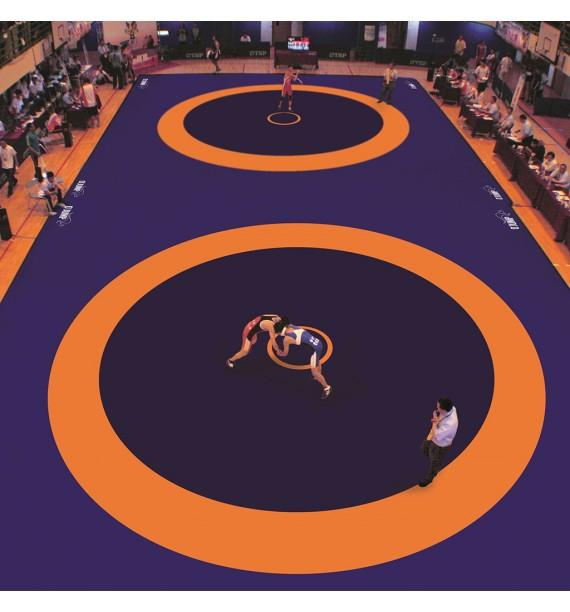 COVER FOR COMPETITION WRESTLING MAT  (UWW APPROVED) - 1200 x 1200 cm