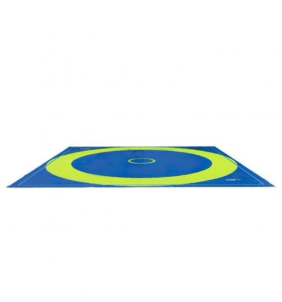 SCHOLASTIC WRESTLING MAT WITH ROLL-UP TRACK BASE LAYER - 800 x 800 x 3.5 cm